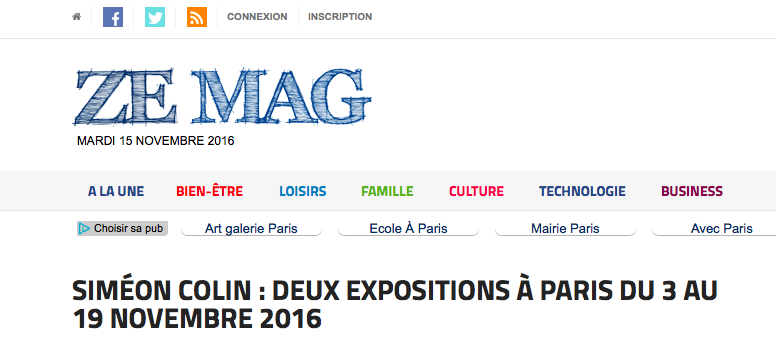 ZE MAG 28/10/2016 FRANCE