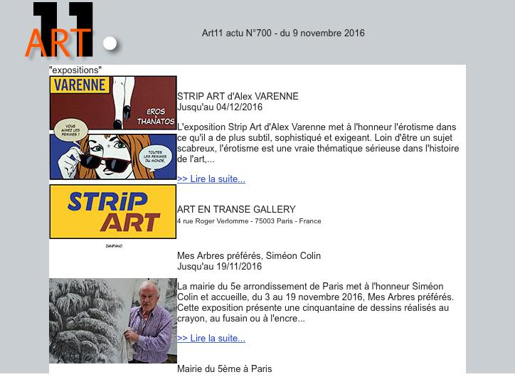 ART 11 03/11/2016 FRANCE